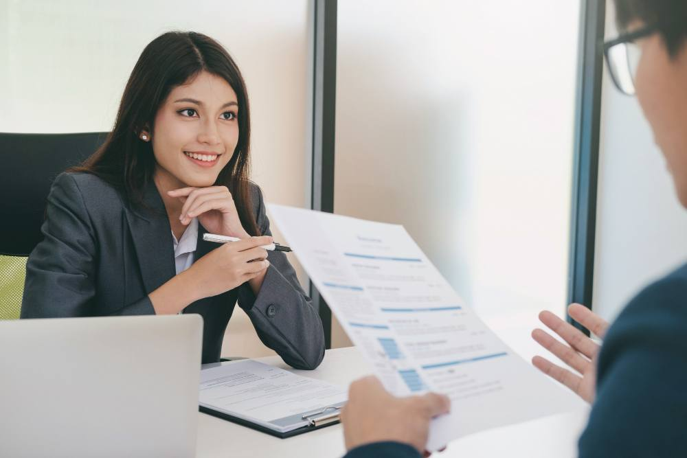 Business situation job interview concept