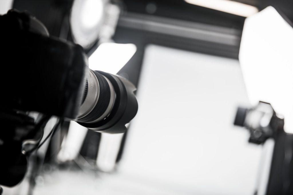 Cámara y estudio fotográfico profesional