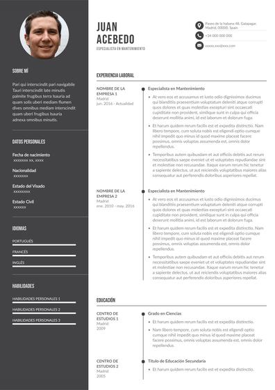 Currículum para personal de mantenimiento