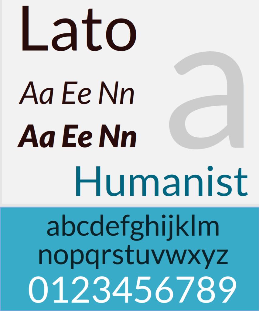tipografía lato
