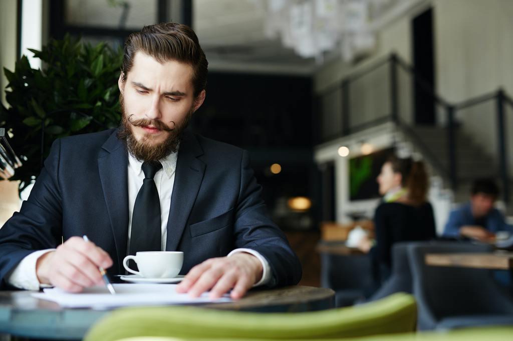 Busy financier