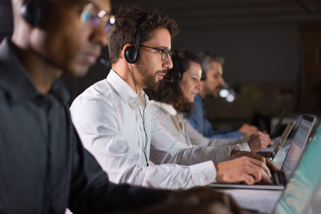 Trabajar en un call center