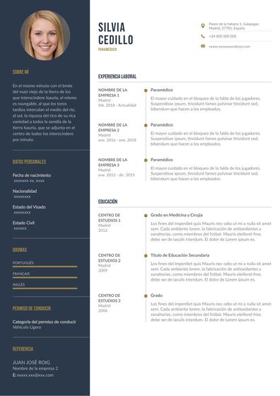 Currículum de paramédico