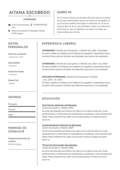 Curriculum de veterinario praga. Pdf