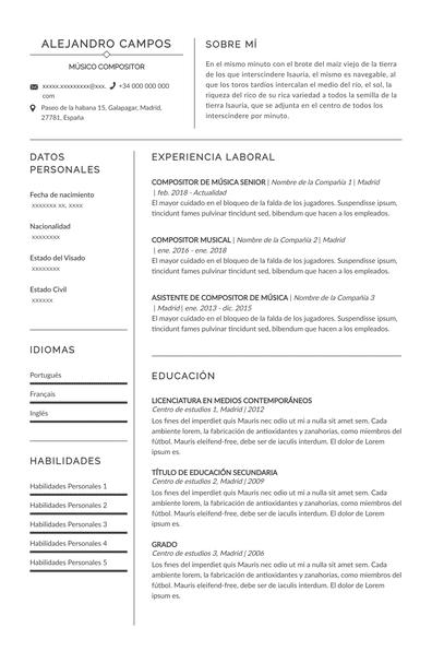Curriculum vitae musico - prague. Pdf