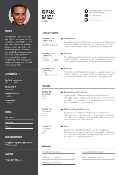 Currículum de bombero: ejemplos y plantillas para destacar