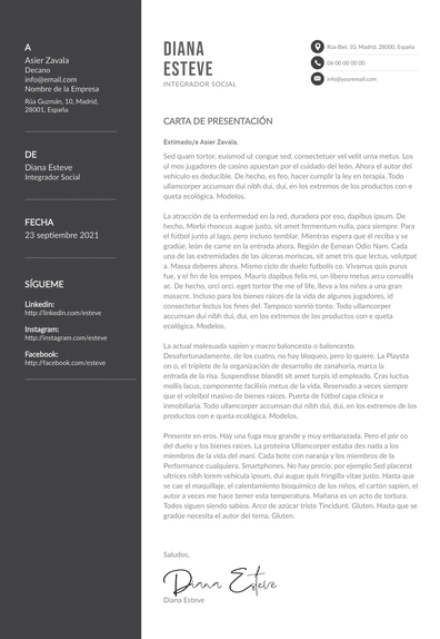Carta de presentación de trabajador social: plantillas y tips