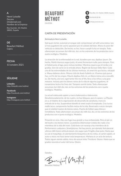 Carta de presentación para supermercado: ejemplos y tips